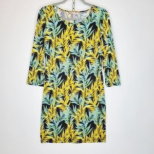 Forever 21 tropical stretchy sz M dress kn…